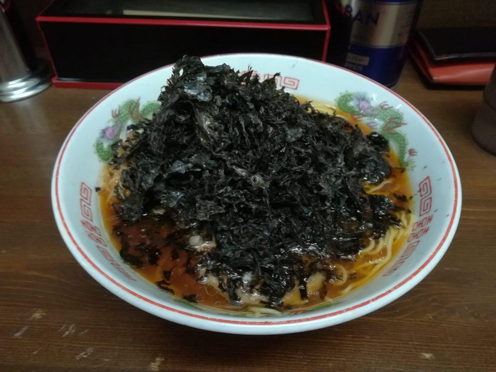 黒ばらのりラーメン大盛¥800