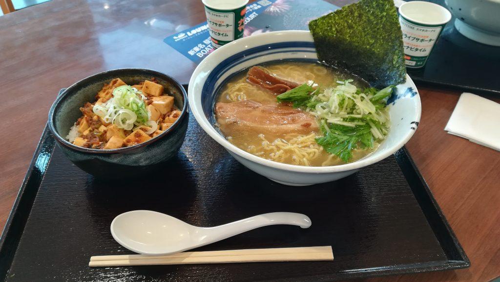 ミニマーボーセット(塩ラーメンとミニマーボー丼)¥1,200